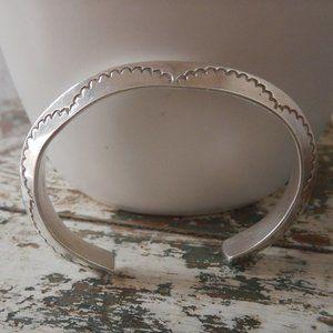 Vintage Sterling Southwest Cuff Bracelet - solid